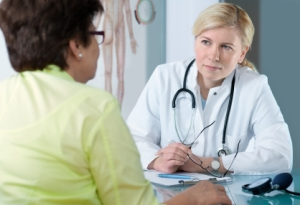 Physician consultation with patient